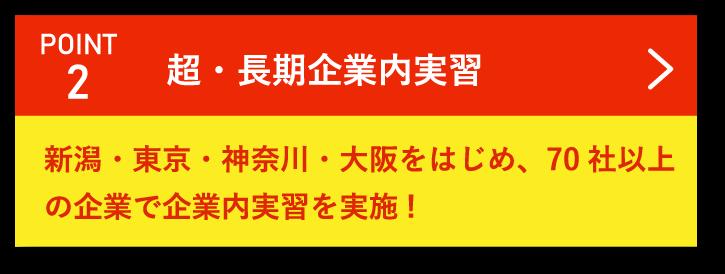 Point2 超・長期インターンシップ 新潟・東京・神奈川・大阪をはじめ、70社以上の企業でインターンシップを実施!